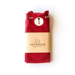 Calcetines Mini Dressing Oso Marsala