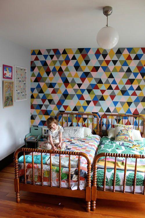 triangulos muchos colores