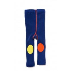 Leggings  azules de algodón con rodilleras
