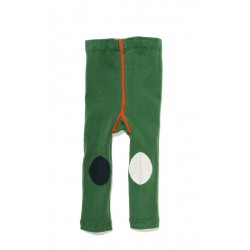 leggings  verdes de algodón con rodilleras