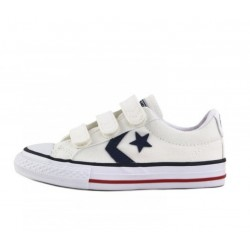 ZAPATILLA DE LONA STAR PLAY BLANCO 2/3 VELCROS