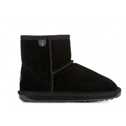 Botas australianas de ante y merino Wallaby Mini BLACK