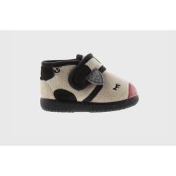 Zapatilla de niño y niña para casa vaca.