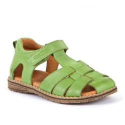 Sandalia piel trenzada Daros C verde.