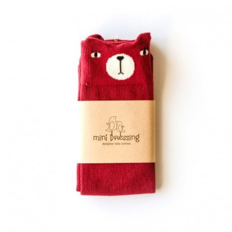 calcetines Mini Dressing Oso Granate